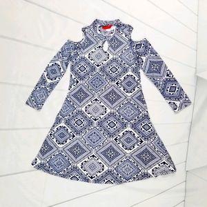 1st Kiss Girls Cold Shoulder Tunic Dress